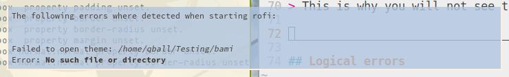 Rofi 1 4 0: Sneak Preview (6): Errors - Qball's Weblog